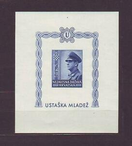 Croatia NDH 1943 A. Pavelic..imperforated block...MNH**!!5900