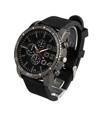 Large Dial Mens Unisex Big Face Wrist Watch Black Dial Silicone Relojes Hombres