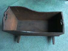 Vintage Early American Cherry Pine Baby Doll Cradle Bassinet Rocker.