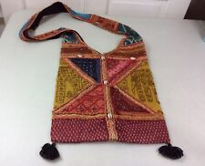 INDIE Style Hobo Bag Elephant Embroidered