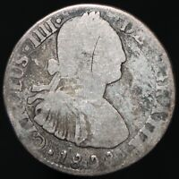 1808   Mexico Charles IIII 2 Reales   Silver   Coins   KM Coins