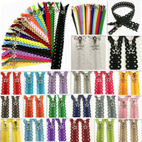 5pcs 12/16inch Star Lace Closed End Zippers 3# Nylon Sewing(20 color)@