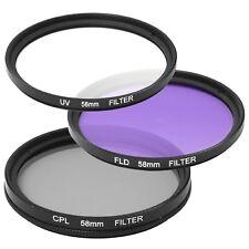 UV CPL FLD Lens Filter kit for Fujifilm X-T2 Mirrorless Camera w/ 18-55mm Lens