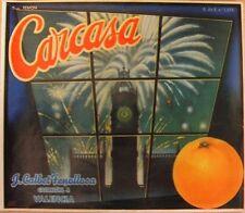 Carcasa  view of Big Ben orange  crate label