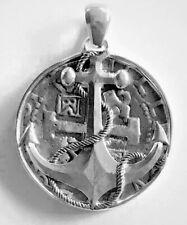 ATOCHA Coin Design Pendant 1600-1700 Silver Anchor Bezel Sunken Treasure Jewelry