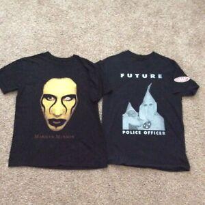 Marilyn Manson Biggie Conart Shirt Vtg Styled Reprint Shirts Sz M Supreme