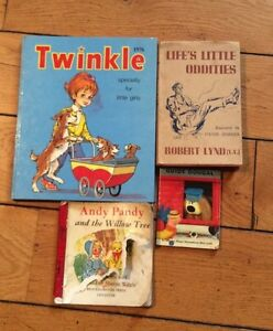 Joblot Of 4 Vintage Books Twinkle 1976 Andy Pandy