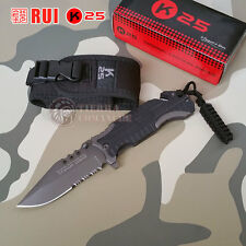 Navaja Tactica RUI/K25 + Paracord - Knife Messer Coltello Couteau Survival