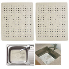 2 Pack Kitchen Sink Mat Drain Pad Protector 10