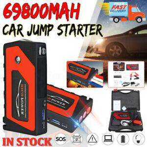 69800mAh 4USB Car Jump Starter Pack Booster Portable Battery Charger Power Bank