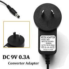 AC 100V-240V Adapter DC 9V 300mA Power Supply 0.3A 5.5mm x 2.1mm AU Plug //