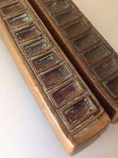 Vintage Large Cast Bronze Mid Century Forms Surfaces Door Pulls Handles Ackerman
