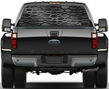 Punch Black Carbon Fiber Rear Window Graphic Decal for Truck SUV Vans