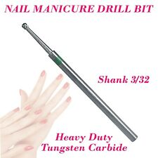 1 Tungsten Carbide Nail Manicure Bit Drill Shank 3/32 Fresas Burr Cuticle Remove