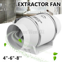 "150MM Inline Round 6"" Ventilation Extractor Fan Duct Pipe Tube Plastic"