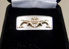 Royal Australian Navy Submarine ring 10k dolphins Sterling ring