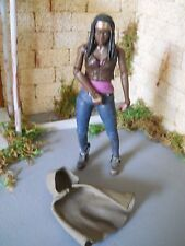 THE WALKING DEAD MCFARLANE ACTION FIGURE MICHONNE FLASHBACK WITH CAPE