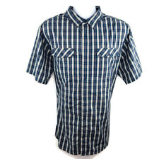Patagonia Mens High Moss Shirt Size XL Blue Orange Green Plaid SS Buttonup