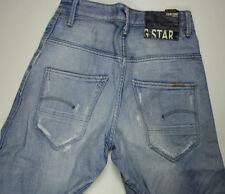 EUC - RRP $359- Mens or Boys G-Star Raw Distressed 'ARC PANT' Faded Indigo Jeans