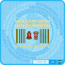 Holdsworth - Bicycle Decals Transfers Stickers - White Fill & Gold Key - Set 15