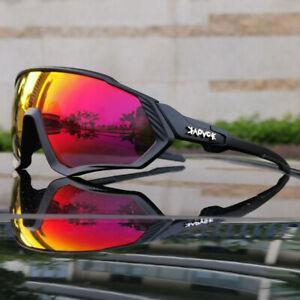 1 Men Cycling Sunglasses 5 lens Polarized Goggles Photochromatic Sports Glasses