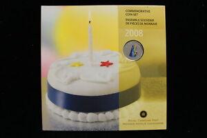 """2008 Canada. 7 Coin Commemorative Set. """"Birthday"""" Colored Quarter. (#3)"""