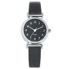 Brief Leather Band Women Lady Analog Quartz Wrist Watch Gifts Bracelet Watches