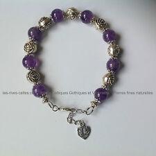 Bracelet pierres naturelles de perles en améthyste