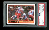 1989 Topps #348 Dino Hackett Kansas City Chiefs Team Leaders PSA 10 GEM MINT!