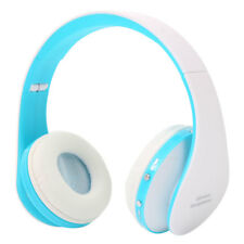 Foldable Wireless Bluetooth Headset Stereo Headphone For Tablet Laptop Blue UK