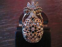 Kronjuwelen gesucht ? opulenter Ring Barock Stil 925er Silber vergoldet Zirkonia