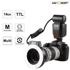 K&F Concept KF-150 Macro Ring Flash E-TTL Light 6 Adapter Rings for Canon 7D 60D