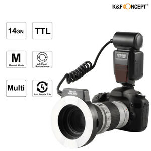 K&F Concept KF-150 Macro Ring Flash E-TTL Light 6 Adapter Rings for Canon 7D 60D