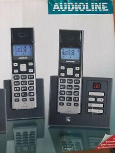 2 x Schnurloses telefon mit anrufbeantworter Polo 383 Audioline