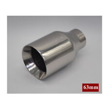 Hot Sale ! Thickened Round 63mm Exhaust Tail Muffler End Tips Stainless steel