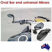 Oval CNC bar end rear view mirrors 22mm black 2015 Kawasaki Vulcan S 650 EN650