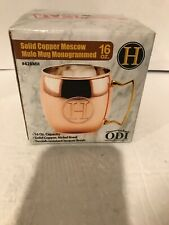 Old Dutch 16-Oz. Monogrammed Solid Copper Moscow Mule Mug, H
