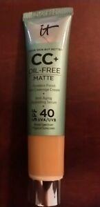 It Cosmetics CC+ Oil Free Matte Foundation Medium SPF 40 -0.406 oz💗💗New