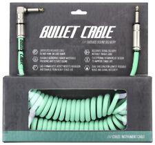'Bullet Cable' Vintage-Style Coil Guitar Cable, Sea Foam Green 15 ft XUBC15CCSEA