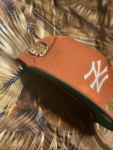 Hat Club Exclusive New Era 59fifty Yankee Fitted Green Brim