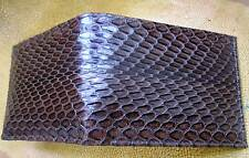 Genuine  Python&Cobra Skin Mens Bifold Wallet Brown color Jame Bond v.77