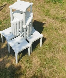 preowned 10 plastic white Stools