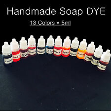5ml*13 Handmade Soap DYE Pigments Liquid Colorant Toolkit Materials 13Colors