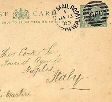 AC202 1900 WESTERN AUSTRALIA *Ship Mail Room* Duplex SWAN Stationery Card Italy