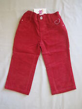 French Kiss Kids Girls Velvet Jeans Pants sizes 1 2 3 Colour Red