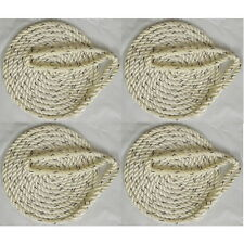 4 Pack of 3/8 Inch x 20 Ft Premium Twisted Nylon Mooring and Docking Lines