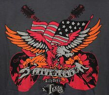Live & Loud By Billy Bob's Texas Men's T Shirt Size Large-American Flag & Eagle