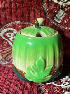 JAPANESE  GLAZED SMALL SUGER BOWL WITH LID