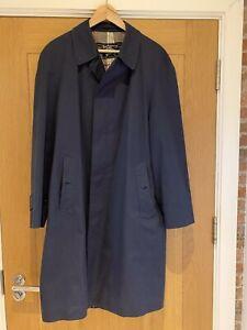 Burberry Mens Blue Rain Coat