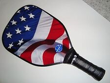 <SUPER NEW & LIGHT> OVER-SIZED PICKLEBALL PADDLE USA FLAG WAVE PICKLEPADDLE T200